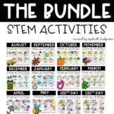 Kindergarten, 1st grade, 2nd grade Year Long STEM Activities Bundle