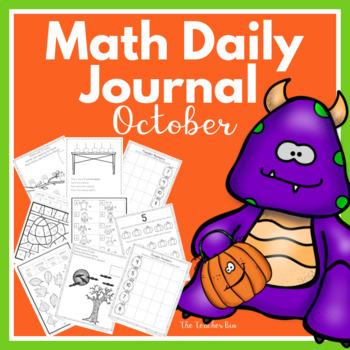 Kindergarten-1st grade-Sp.Ed.-Math Daily Journal-October