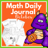 Kindergarten-1st grade-Sp.Ed.-Math Daily Journal-October
