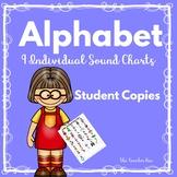 Kindergarten - 1st grade- Special Ed.-Alphabet Sound Charts-9 Individual Sets