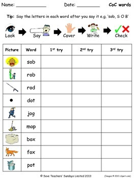 Kindergarten Spelling Worksheets (79 worksheets) by Save ...
