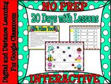 Kindergarten 20 Days- 1 MONTH NO PREP Distance Learning
