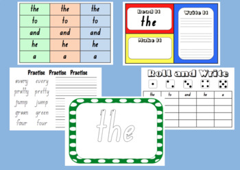 Kindergarten Sight Word Bundle 20 week