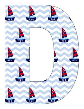 Kindergarten 2017 nautical Banner with 3  cliparts