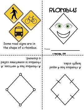 Kindergarten 2D Shape Booklets