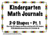Kindergarten 2D Shape Math Journals