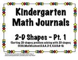 Kindergarten 2D Shape Math Journals