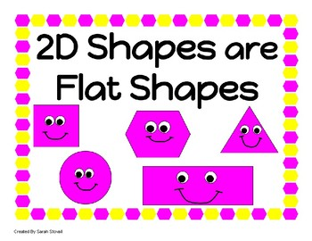 Kindergarten 2D Shapes Learning Posters