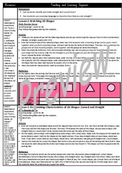 Kindergarten 2D Shapes Smart Notebook and Unit of Work Bundle 1