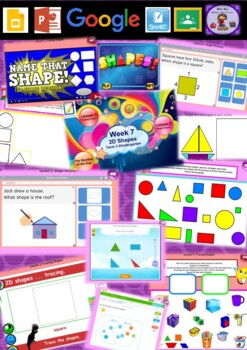 Kindergarten 2D Shapes Smart Notebook and Unit of Work Bundle 3