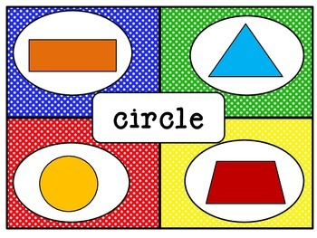 Kindergarten 2D and 3D Geometry Four Corners