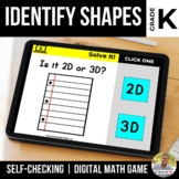 Kindergarten 2D and 3D Shapes Digital Math Games | Distanc