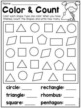 Kindergarten D And D Shapes Worksheets By My Teaching Pal  Tpt Kindergarten D And D Shapes Worksheets