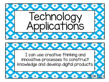 Kindergarten-Second Grade TEKS I Can Statement Cards- Technology Applications