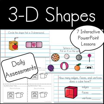 Kindergarten 3-D Shapes