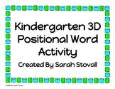 Kindergarten 3D Shape Positional Words Listening Activity