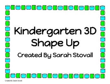 Kindergarten 3D Shape Up Game