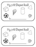Kindergarten 3D Shapes Book