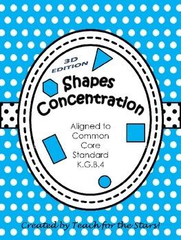 Kindergarten 3D Shapes Concentration Game: K.G.B.4