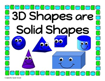Kindergarten 3D Shapes Learning Posters