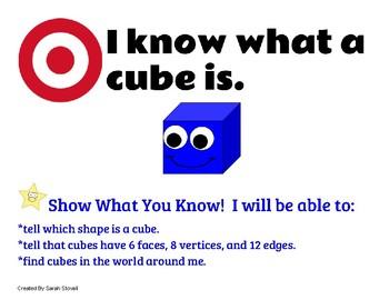 Kindergarten 3D Shapes Learning Targets w/ Success Criteria