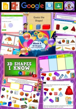Kindergarten 3D Shapes Smart Notebook and Unit of Work Bundle 2