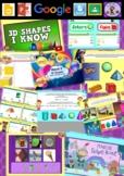 Kindergarten 3D Shapes Smart Notebook and Unit of Work Bundle 3