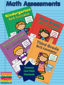 Kindergarten- 3rd Grade Math Assessments Common Core State Standards
