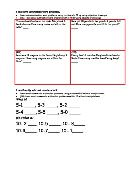 Kindergarten 4th Quarterly Assessment w/ Common Core I Can Statements