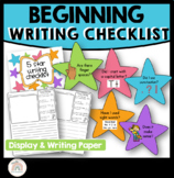 Kindergarten 5 Star Writing Display Rubric - Beginning Writing
