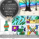 Elementary Art K-5th Distance Learning Art Pack, Two Week