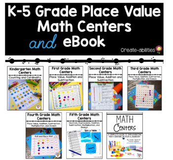Kindergarten-5th Grade Place Value Math Centers