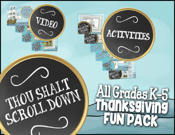 Kindergarten - 5th Grade Thanksgiving Activities: Comprehensive Thanksgiving Set