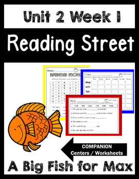 Reading Street.Unit 2 Wee 1. A Big Fish for Max. Centers/Focus Wall/Handwriting