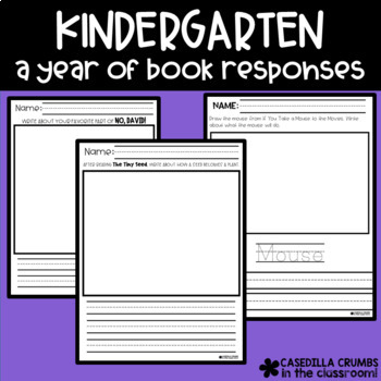 Kindergarten - A Year of Book Responses