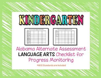 Kindergarten AAA Language Arts Checklist Progress Monitoring