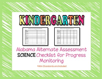 Kindergarten AAA Science Checklist Progress Monitoring