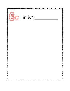 Kindergarten ABC Class Book