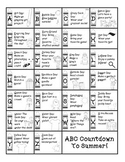 Kindergarten ABC Countdown to Summer