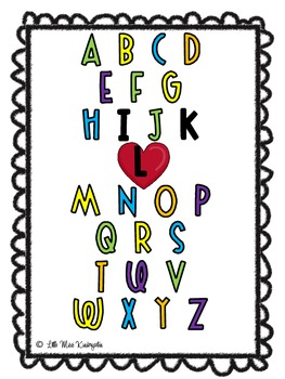 Kindergarten ABC Free Printable!