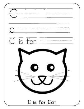 Kindergarten ABC activity book