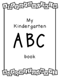 Kindergarten ABC activity book