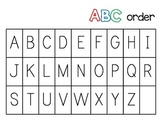 Kindergarten ABC order Literacy Station