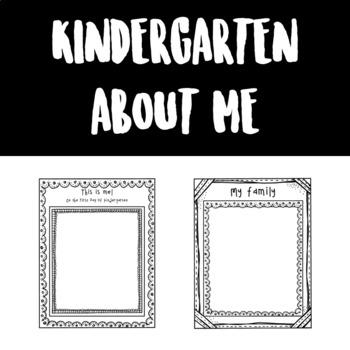 Kindergarten About Me