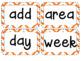 Kindergarten Academic Vocabulary Math Editable