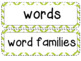 Kindergarten Academic Vocabulary RLA Editable