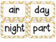 Kindergarten Academic Vocabulary Science Editable
