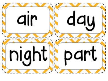 Kindergarten Academic Vocabulary Science Editable