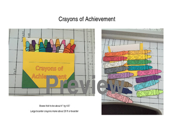 Kindergarten Sight Word and CCSS Achievement Crayons