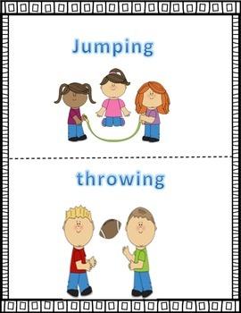 Kindergarten Action Words Activity: Speaking, listening and demonstrating